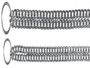 TRIXIE Choke Chain, Double Row, Chromed