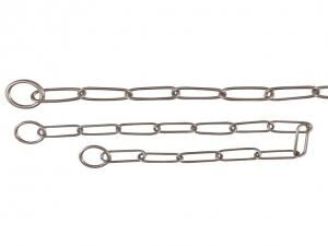 TRIXIE Long Link Choke Chain, Stainless Steel