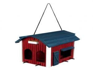 Hanging Bird Feeder Barn, Wood