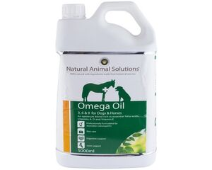 NATURAL ANIMAL SOLUTIONS OMEGA 3 6 9 OIL FOR DOGS OR HORSES
