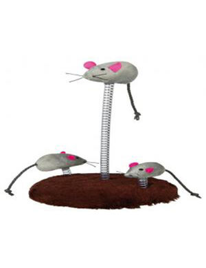 Trixie Mouse Family on Springs