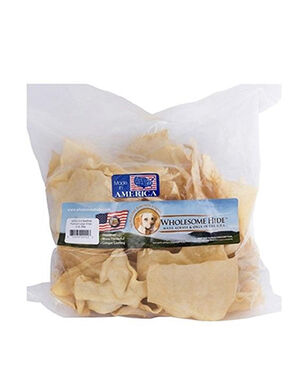 All Natural Rawhide 1LB Bag Large Chips