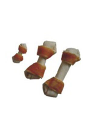 Rawhide and chicken pressed bone 110gm ( 1 piece )