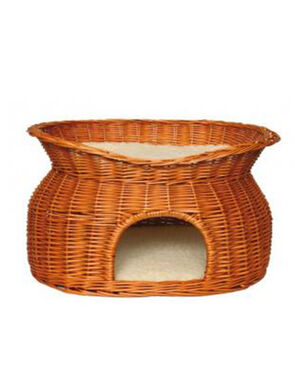 TRIXIE Wicker Cave with Bed on Top