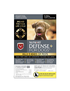Nutrivet defense for dogs over 5-10 lbs