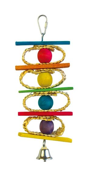 Sandwich ring parrot toy