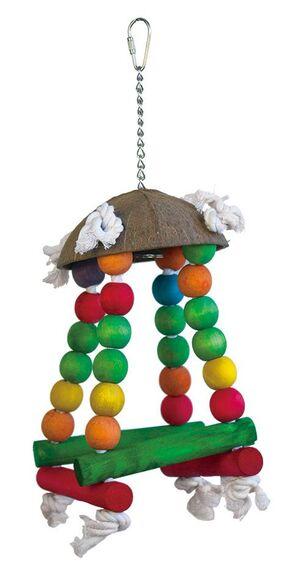 Coconut hat parrot toy