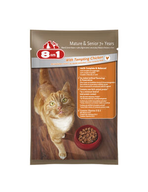 8 in 1 For Senior Cats with Tempting Chicken 100gm