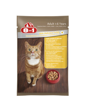 8 in 1 Wet Food with Delicious Turkey 100gm