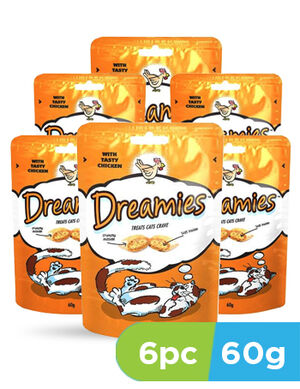 Dreamies cat treat chicken 6 x 60gm