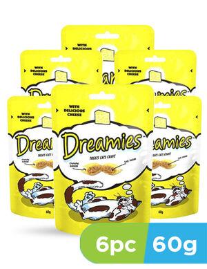 Dreamies cat treats cheese 6 x 60g
