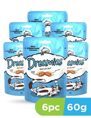 Dreamies cat treats salmon 6 x 60g - Cats Food product