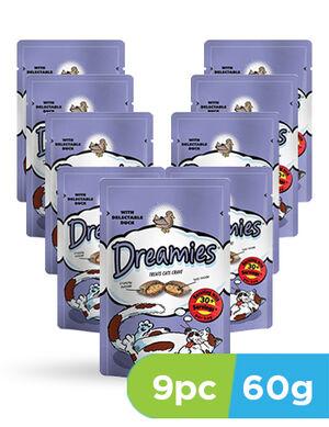Dreamies cat treats duck 9 x 60g