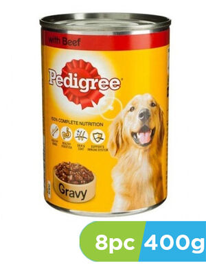 Pedigree Beef Chunks in Gravy Dog Food 8 x 400g