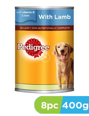 Pedigree Lamb Wet Dog Food Can 8 x 400g