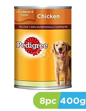 Pedigree Chicken Loaf Wet Dog Food 8 x 400 g -  Dogs product