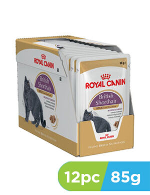 Royal Canin British Shorthair In Gravy 12pc x 85gm