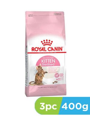 Royal Canin Kitten Sterilised 3pc x 400gm