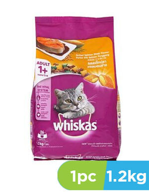 Whiskas Grilled Salmon Steak Flavour 1.2kg