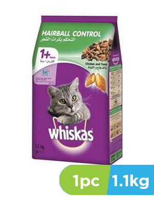 Whiskas Hairball Control Chicken & Tuna 1.1kg