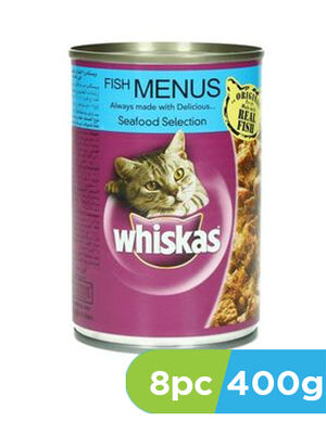 Whiskas Fish Menus Seafood Selection 8pc x 400gm