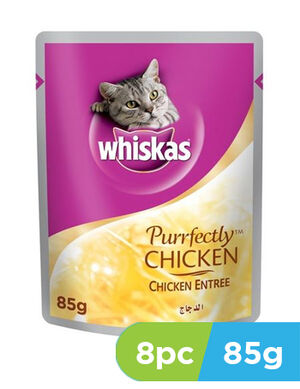 Whiskas Purrfectly Chicken Entree Pouch 8pc x 85gm -  Cats product