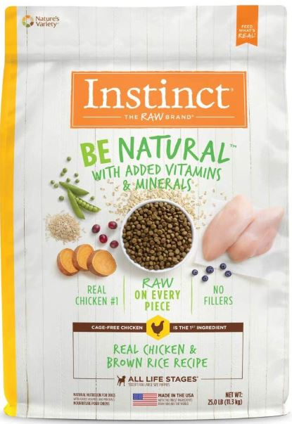 Instinct  Be Natural Real Chicken & Brown Rice Recipe 25lb