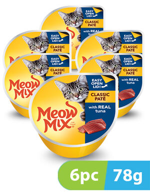 Meow Mix Classic Pate Tuna 6pc x 78gm