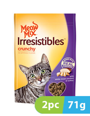 Meow Mix Irresistibles White Meat Chicken & Turkey 2pc x 71gm -  Cats product