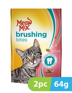 Meow Mix Brushing Bites Salmon 2pc x 64gm