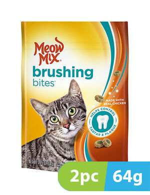 Meow Mix Brushing Bites Chicken 2pc x 64gm -  Cats product