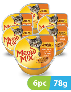 Meow Mix Savory Morsels Chicken Breast 6pc x 78gm