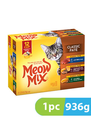 Meow Mix Classic Pate Variety Pack 936g