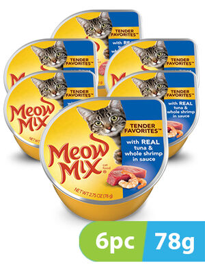 Meow Mix Tender Favorites Tuna & Shrimp 6pc x 78gm -  Cats product