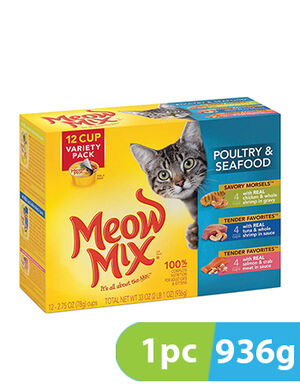 Meow Mix Poultry & Seafood Variety Pack 936gm