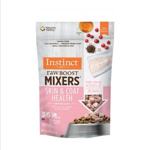 Instinct  Raw Boost Mixers -Skin & Coat Health (New) 5.5oz (155gm)