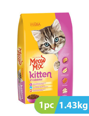 Meow mix Kitten Li'l Nibbles Dry Cat Food 1.43 kg