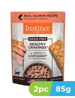 Instinct  Healthy Cravings Real Salmon Recipe 2pc x 3oz  (85grams) -  Cats product