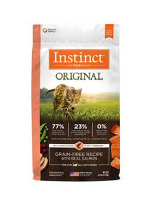 Instinct Original Grain-Free Recipe with Real Salmon  4.5lb (cat) 2kg