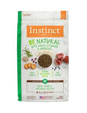 Instinct Be Natural Real Lamb & Oatmeal Recipe 4.5 lb  (2kg)
