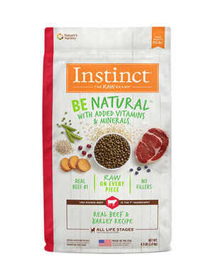 Instinct Be Natural Real Beef & Barley Recipe 4.5lb  (2kg)