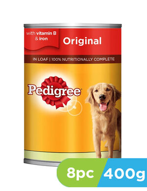 Pedigree Dog Food Original 8 x 400g