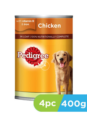 Pedigree Chicken Loaf Wet Dog Food 4pc x 400 g
