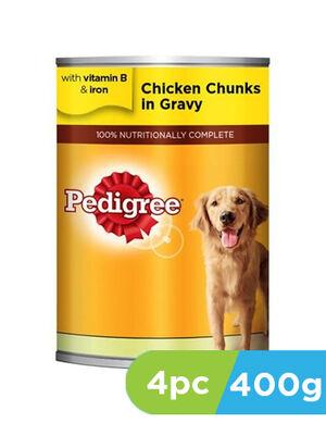 Pedigree Chicken Chunks in Gravy Dog Food 4 x 400g