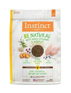 Instinct Be Natural Real Chicken & Brown Rice Recipe 4.5 lb  (2kg)