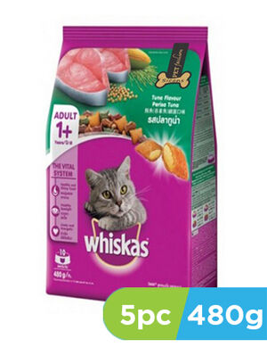 Whiskas Tuna flavour perisa tuna 5pc x 480gm - Individual Cats product