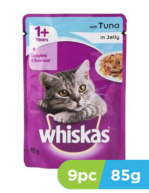 Whiskas Jelly with Tuna 9pc x 85gm