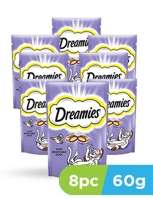 Dreamies cat treats duck 8pcs x 60g