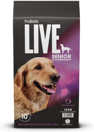 Probiotic Live Adult Senior Chicken & Rice 12kg