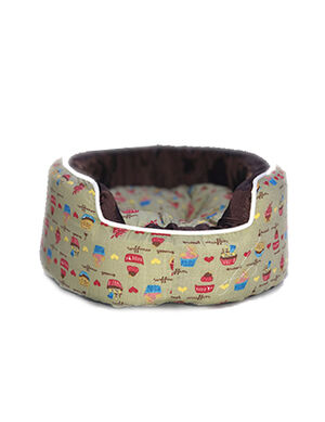 Mint and brown dog bed Medium -  Dogs product